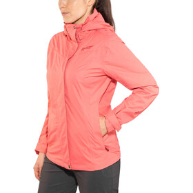 Maier Sports Metor 2 Layer Packaway Jacket Women spiced coral